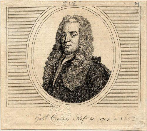 Gravure représentant Gabriel Cramer (Source : BGE)