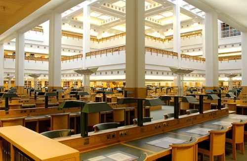 Manuscript reading room (source photo : http://blogs.bl.uk/inspiredby/books/page/2/)